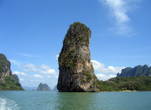 Island in Phang Nga Bay, Thailand. Taken from a tour boat Royalty Free Stock Image