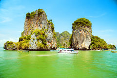 Island in Phang Nga Bay, Thailand Stock Images