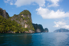Island of Phi Phi Leh in Thailand Stock Photo