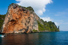 Island of Phi Phi Leh in Thailand Stock Photography