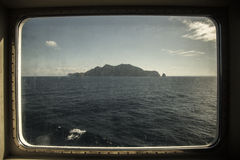 Island. Photo from boat near tunisi Royalty Free Stock Photos