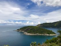 Island in Phuket, Thailand. Small Island near Leam Promthep in Phuket, Thailand royalty free stock photo