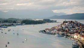 The island of Poros. Greece. View of the island of Poros. Greece Stock Photo