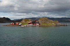 Island in the Porsangerfjord, Norway Royalty Free Stock Image
