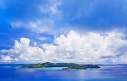 Island Praslin at Seychelles Stock Image