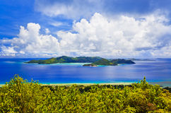 Island Praslin at Seychelles. Nature background royalty free stock photography
