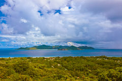 Island Praslin at Seychelles Stock Photos