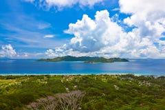 Island Praslin at Seychelles Stock Photos