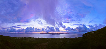 Island Praslin Seychelles at sunset Royalty Free Stock Photo