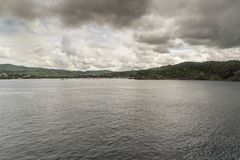 The bay of San Juan del Sur Nicaragua from Island Princess royalty free stock photography