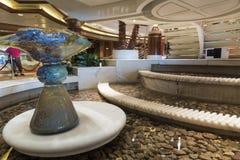 Main atrium water feature on MV Island Princess royalty free stock photos