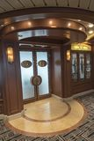 Churchill`s Lounge on MV Island Princess. Island Princess is a cruise ship for the Princess Cruises line. She is the sister ship to Coral Princess and together stock photo