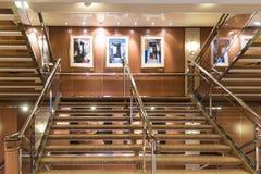A staircase on MV Island Princess stock photography