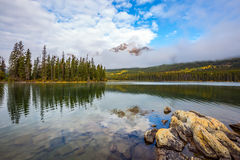 Island in Pyramid Lake Stock Photography