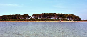 Porto cesareo salento Italy. Island of rabbits isola dei conigli porto cesareo Salento Italy royalty free stock photography