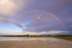 Island rainbow Royalty Free Stock Photo