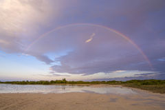 Island rainbow Royalty Free Stock Photo