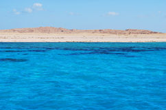 Island  in the Red Sea. Picture is taken from the boat Royalty Free Stock Photography