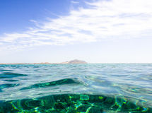 Island in Red sea. Island in the middle of Red sea Royalty Free Stock Images