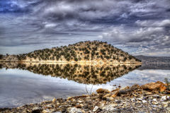 Island Reflection in the Lake - HDR Stock Image