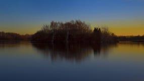 Island reflections landscape Stock Image