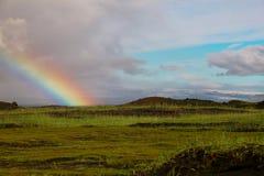 Island regnbåge arkivfoto