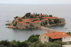 The island resort of Sveti Stefan in Montenegro Royalty Free Stock Photos