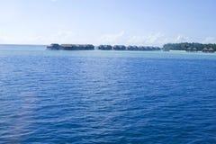 Island resort with villa in maldives Stock Image