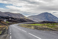 Island Road Mountains Royalty Free Stock Photography