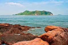 Island and Rock Royalty Free Stock Images
