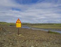 Island, südwärts inländisch, Fjallabaki, am 6. Juli 2018: Flusskreuz an lizenzfreies stockfoto