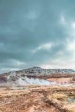 Island-` s berühmter Geysir Lizenzfreies Stockbild