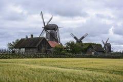 Island saaremaa, estonia, europe, the mills of angla Stock Image