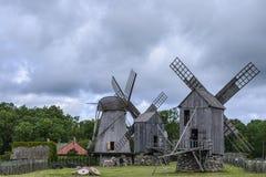 Island saaremaa, estonia, europe, the mills of angla Royalty Free Stock Photography