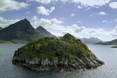 Island on sae Vester�len Royalty Free Stock Images