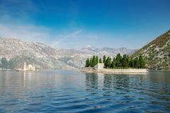 Island of Saint George at bay of Kotor Royalty Free Stock Image