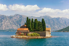 Island of Saint George. Montenegro Stock Images
