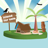 Island for sale Royalty Free Stock Images