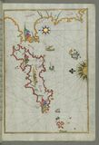 The Island of Samos, from Book on Navigation, Walters Art Museum Ms. W.658, fol.79b Royalty Free Stock Photography