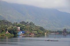 Island Samosir on the lake Toba Stock Image