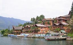Island Samosir on the lake Toba Royalty Free Stock Photo
