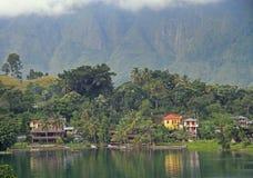 Island Samosir on the lake Toba Royalty Free Stock Photography