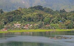 Island Samosir on the lake Toba Stock Photos