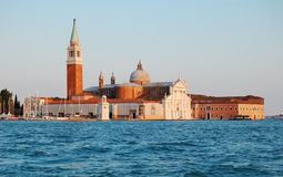 Island of San-Giorgio in evening Stock Images