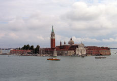 Island of San Giorgio Maggiore – Venice, Italy. An integral part of the view from the Bacino di San Marco, the island of San Giorgio Maggiore has inspired many Royalty Free Stock Photos