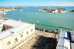 Island of San Giorgio Maggiore in Venice, Italy Royalty Free Stock Photography