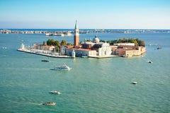Island of San Giorgio Maggiore in Venice, Italy Stock Image
