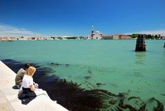 Island of San Giorgio Maggiore in Venice Royalty Free Stock Photography