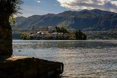 Island San Giulio Stock Image