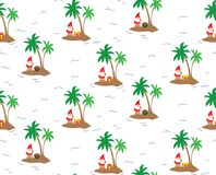 Island Santa Claus - seamless repeating pattern. stock illustration